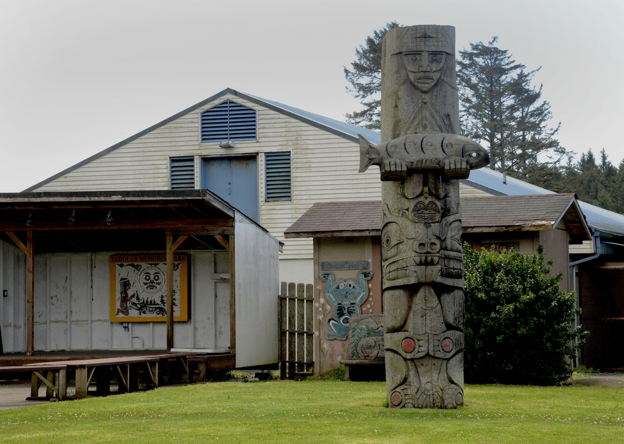A Quinault Indian Reservation community area.