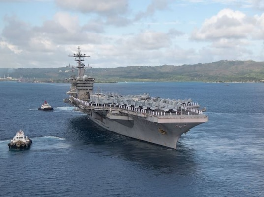 USS Theodore Roosevelt Departs Guam Mission Ready