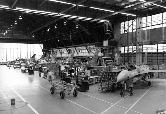 The Ogden Air Logistics Center became the worldwide system and maintenance manager for the F-16 in 1976. The first F-16 to come to Hill AFB for depot maintenance arrived on June 29, 1979. This began a depot maintenance program at the Ogden ALC that continues to the present.