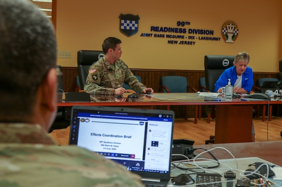 Army Reserve division hosts virtual Effects Coordination Board