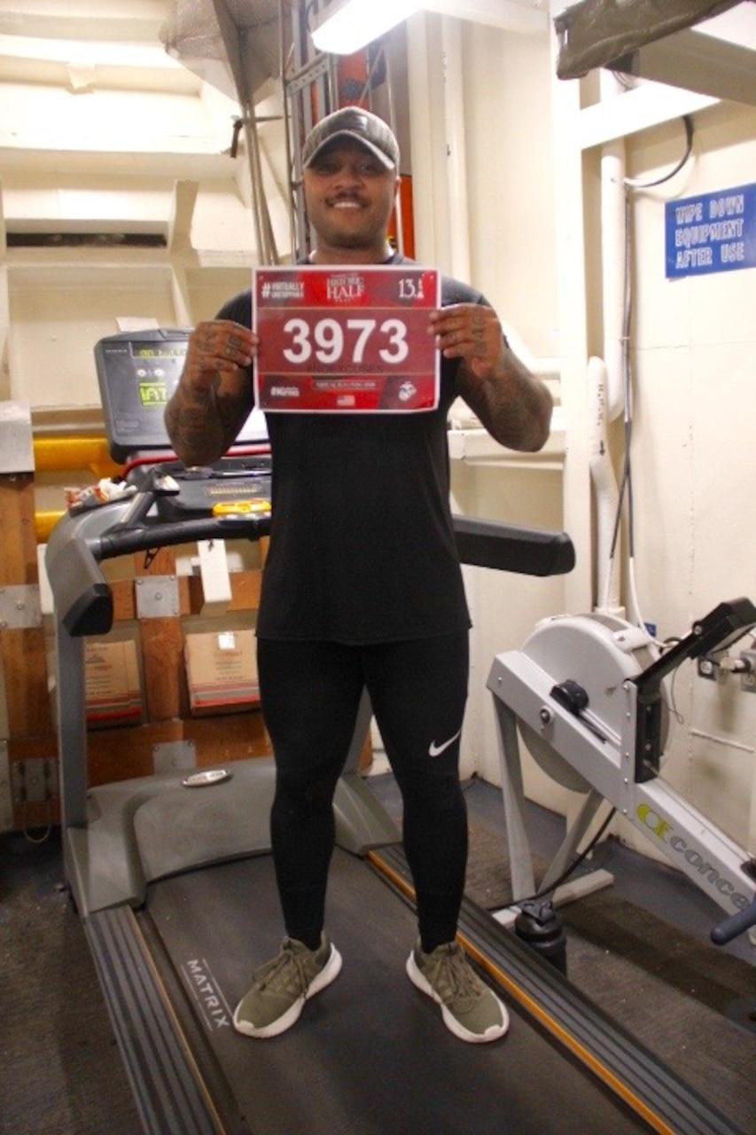 "Donald Cook Sailors Run USMC ""Historic Half"" Marathon"