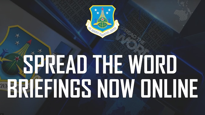 Spread the Word Briefings Now Online graphic.