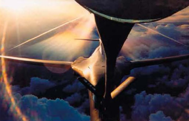 In an undated photo, a B-1 Bomber flying in support of Operation Iraqi Freedom is refueled by a KC-135 Stratotanker assigned to the 22nd Air Refueling Wing and flown by an 18th Air Refueling Squadron crew. The photo was taken by then-Senior Master Sgt. John Wallman, a boom operator belonging to the 18 ARS. The 931st began supporting OIF in March. 2003.