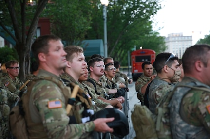 Approximately 200 Utah National Guard Soldiers returned to Salt Lake City, Sunday, June 7, 2020 following an activation at the request of the Secretary of Defense to augment civil authorities in Washington, D.C. amid civil unrest.