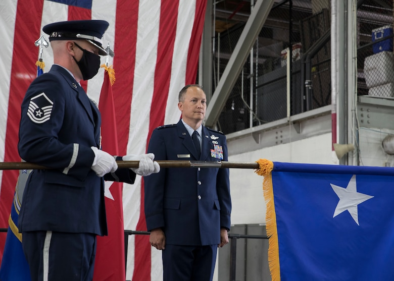 Col. Daniel Boyack, commander Utah Air National Guard, promotes to the rank of Brigadier General at a promotion ceremony at Roland R. Wright Air National Guard Base, Salt Lake City, Utah on June 6, 2020.