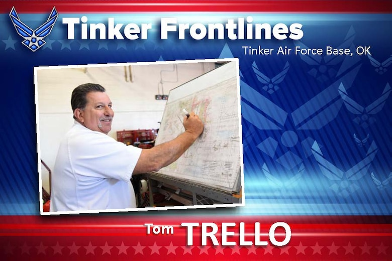 Tom Trello, assistant chief of operations for the Tinker Fire Department, has served as a firefighter for 34 years.
