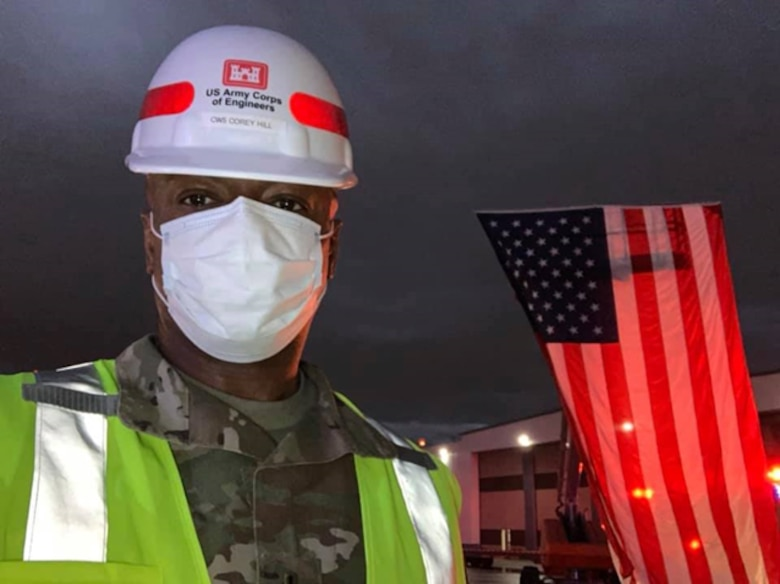 Chief Warrant Officer 5 Corey K. Hill, an associate technical director with the U.S. Army Engineer Research and Development Center's Construction Engineering Research Laboratory, served as project integrator and planner for the McCormick Place Alternate Care Facility project in Chicago, Ill., during the U.S. Army Corps of Engineers' fight against COVID-19.
