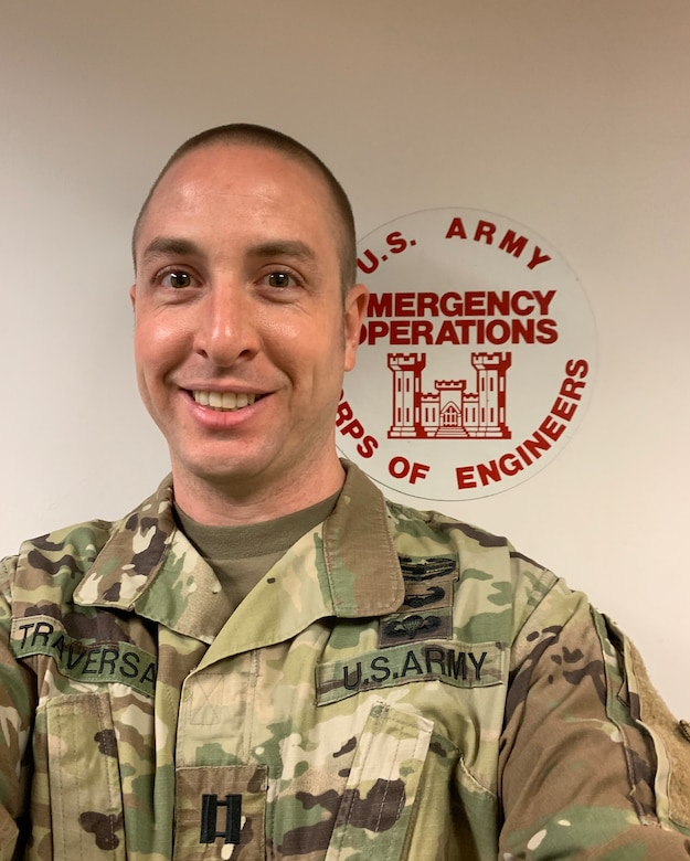 The U.S. Army Engineer Research and Development Center's Financial Management Officer Capt. Taylor D. Traversa deployed with the U.S. Army Corps of Engineers Mississippi Valley Division during the fight against COVID-19.