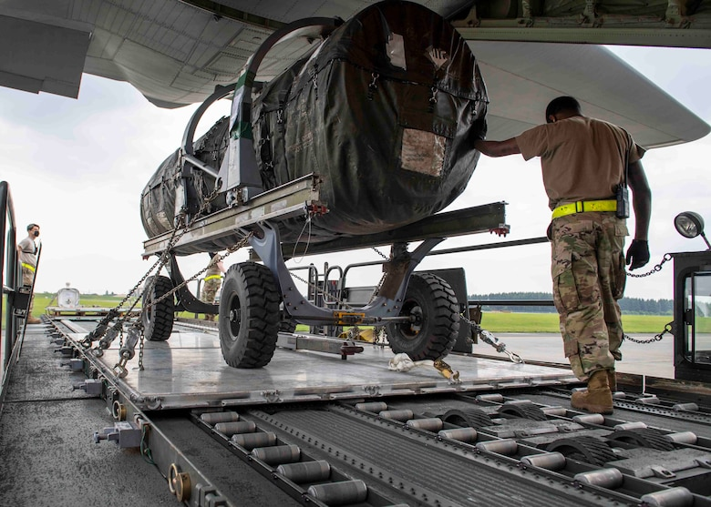 The 35th Logistics Readiness Squadron coordinated with the 36th Airlift Squadron from Yokota Air Base, Japan to conduct airland cargo training at Misawa AB, Japan, May 28.
