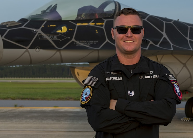 A photo of the 2020 Viper Demo Team noncommisioned officer in charge.