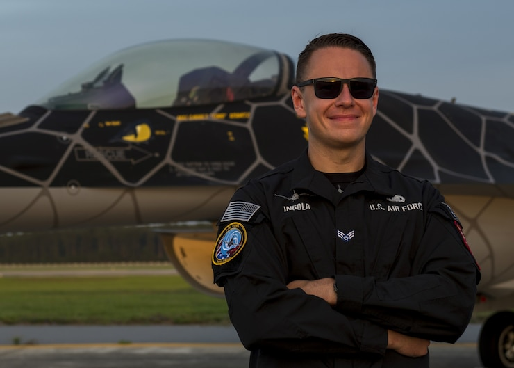 A photo of the 2020 Viper Demo Team public affairs coordinator.