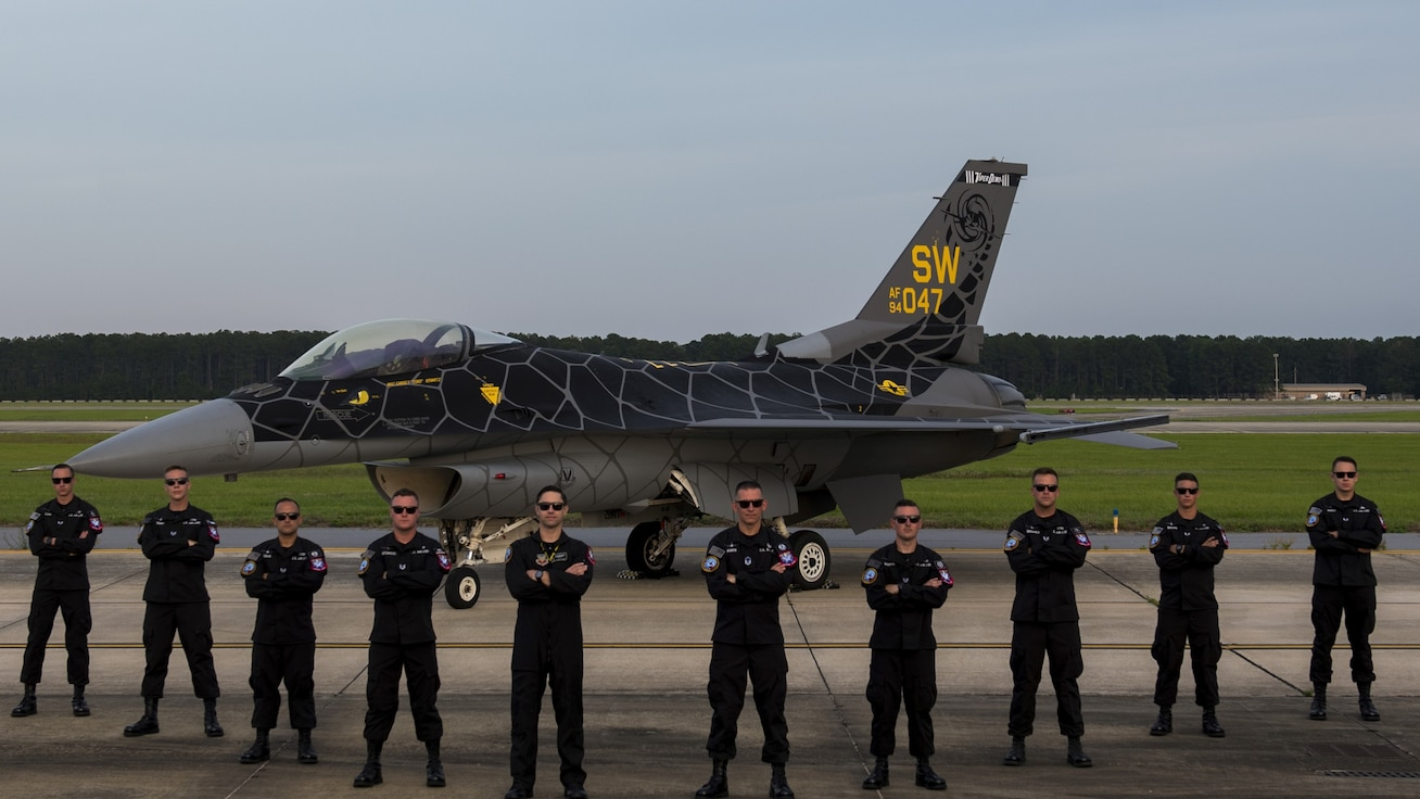 A group photo of the Viper Demo Team.