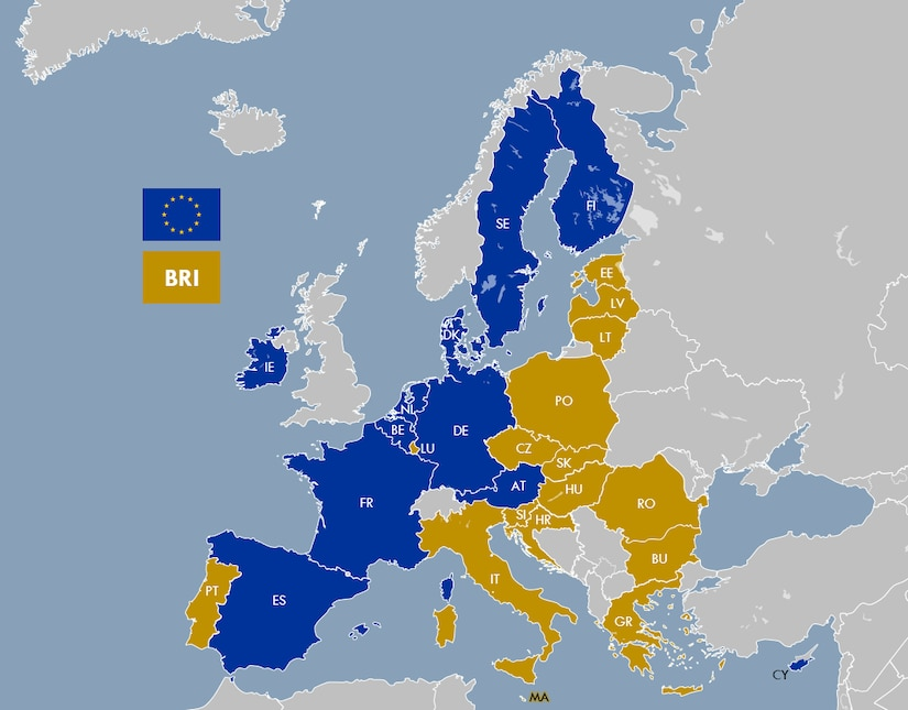 EU27 cooperation under BRI framework (2019)