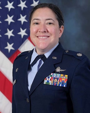 Official photo of Lt. Col. Veronica Williams in service dress uniform