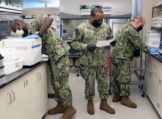 Navy Sailors in lab