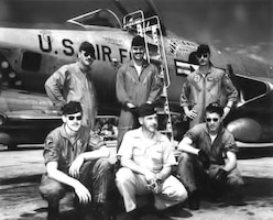 In 1962, these Air Force pilots from the 45th Tactical Reconnaissance Squadron were among the first to operate out of Don Muang Airfield, Bangkok, Thailand. OSI District 51 was later established to protect the Airmen, the airfield and these operations. The base is still active and is now known as the Don Muang Royal Thai Air Force Base. (U.S. Air Force Photo)