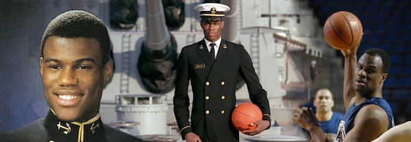 """David Robinson's teammates nicknamed him """"The Admiral"""" because after graduating from the U.S. Naval Academy, where he majored in mathematics, he served in the Navy from 1983 to 1987."""