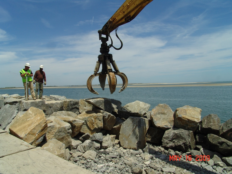 The Townsends Inlet to Cape May Inlet Coastal Storm Risk Management Project includes 2.2 miles of seawall along the Townsends Inlet frontage of Avalon and the Hereford Inlet frontage of North Wildwood.