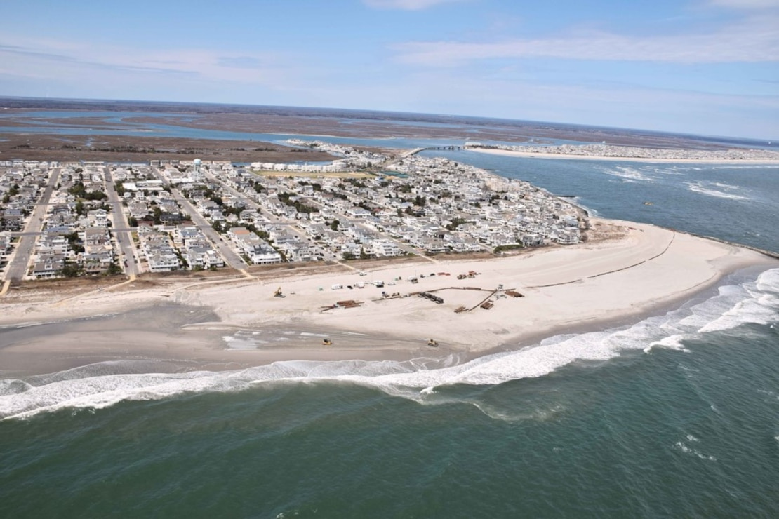 The Townsends Inlet to Cape May Inlet Coastal Storm Risk Management Project includes the construction of a dune and berm system in Avalon and Stone Harbor, N.J. with a 3-year nourishment cycle.