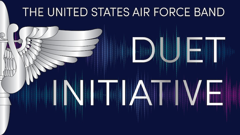 Graphic representing the Duet Initiative of the United States Air Force Band