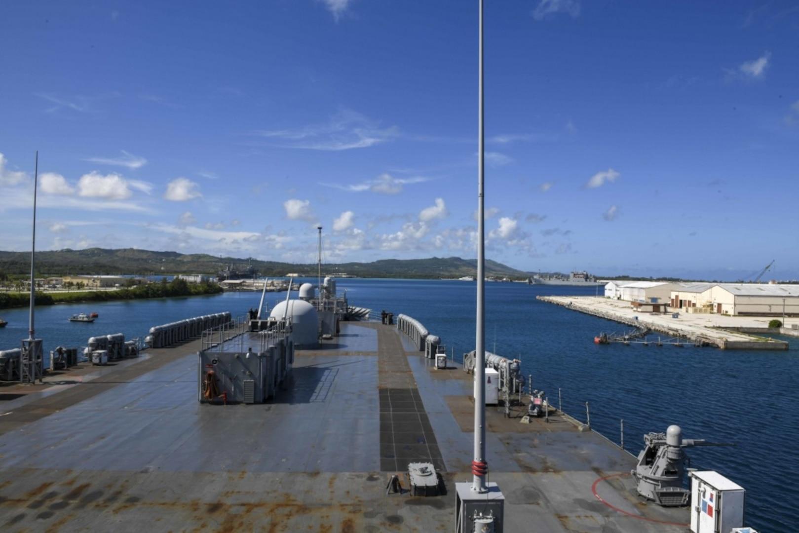 Blue Ridge Pulls Into Guam for Second Safe Haven Liberty