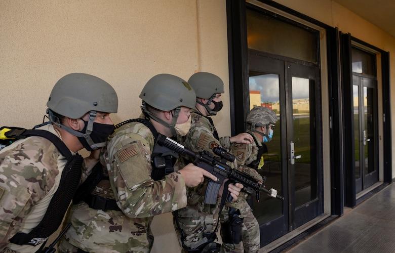 Airmen prepare to enter