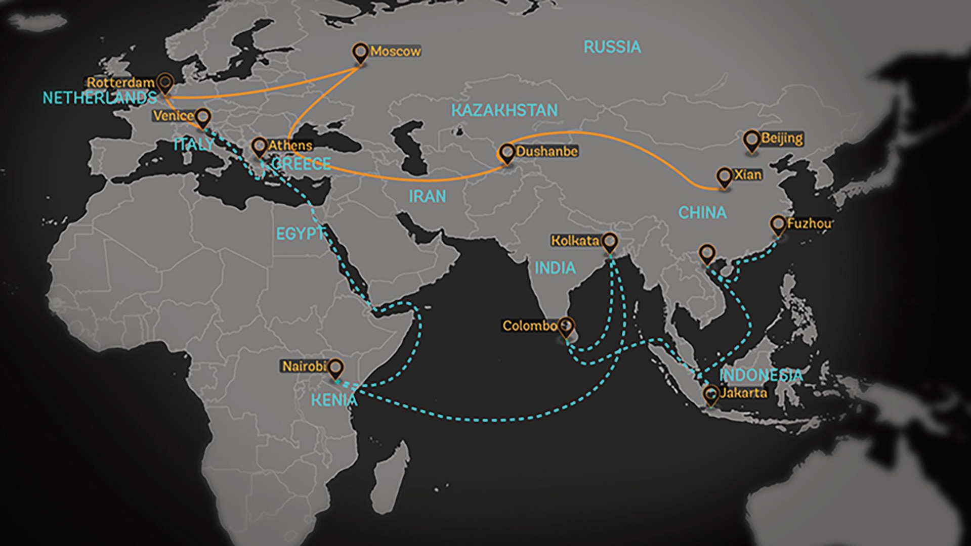The Belt and Road Initiative includes 1/3 of world trade and GDP and over 60% of the world's population. (World Bank)
