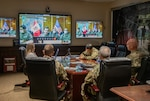 Leaders of the West Virginia National Guard (WVNG) held a video conference call with their State Partnership Program (SPP) counterparts in Perú to discuss COVID-19 military response efforts and best practices June 11, 2020.