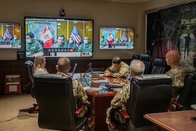 W.Va. Guard, Peruvian military share best COVID-19 practices