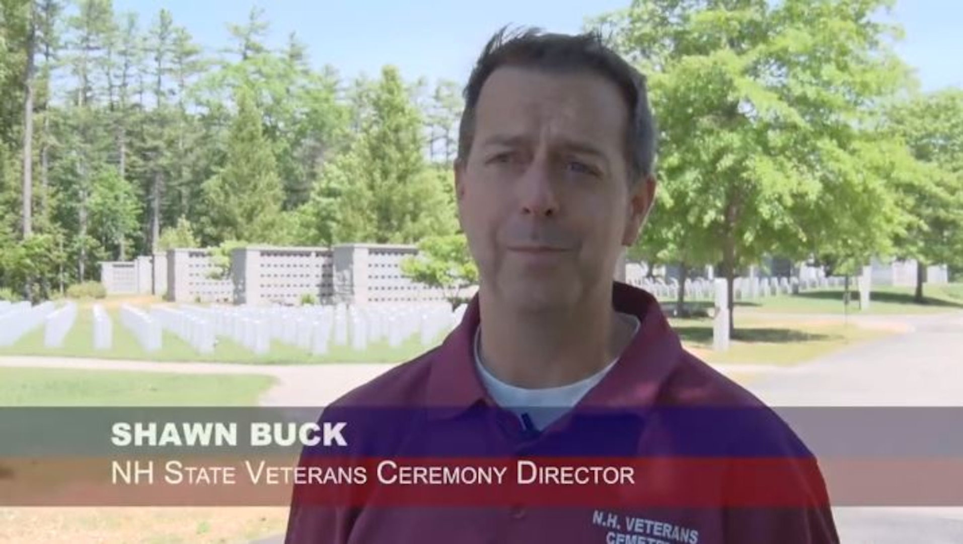 Shawn Buck, director of the New Hampshire Veterans Cemetery, employed the 157th Civil Engineers to build a berm to decrease traffic noise.
