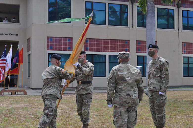 9th MSC Theater Support Group conducts change of command while complying with COVID-19 guidelines