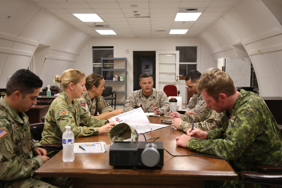 GySgt Ciupak, Africa Foreign Area SNCO participates in the 2017 Combined Unit Exercise with members from the U.S., Australia, Canadian, and United Kingdom Armed Forces.