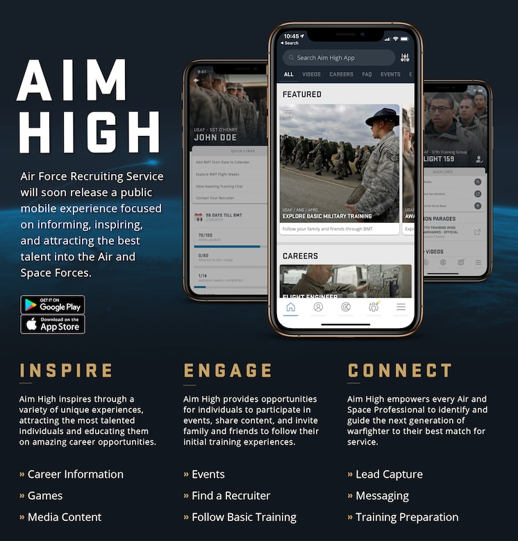 Slick Sheet for AFRS Aim High app