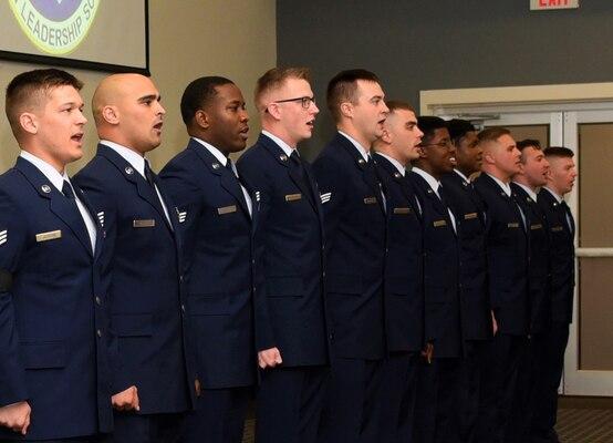 Airmen singing
