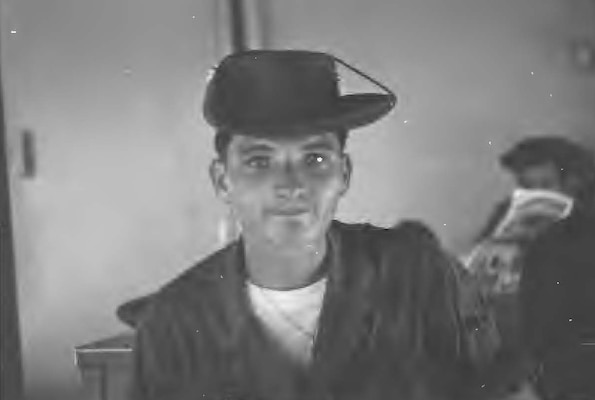 Young George Tyras in uniform