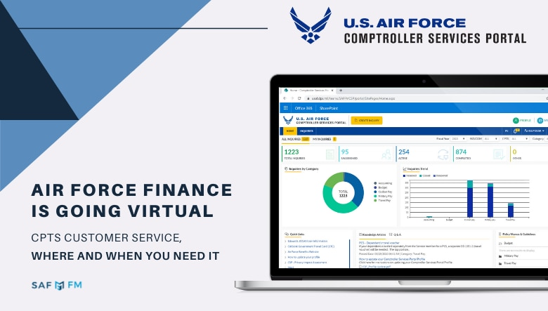 Comptroller Services Portal is an automated incident management application that allows customers to request and receive online assistance from their servicing comptroller squadron. CSP has integrated workflows which assist the customer in seeking help with travel pay, military pay and civilian pay. (U.S. Air Force courtesy graphic)