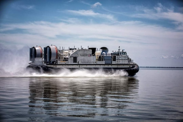 The Navy's next generation landing craft, Ship to Shore Connector (SSC), Land Craft, Air Cushion (LCAC) 101, concluded acceptance trials the week of June 8 after successfully completing a series of graded in-port and underway demonstrations for the Navy's Board of Inspection and Survey (INSURV).
