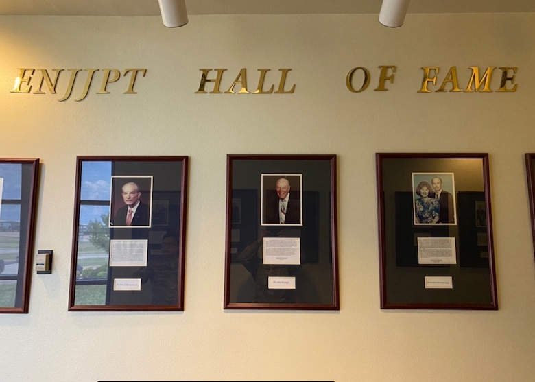 The ENJJPT Hall of Fame was established in 1998 to honor the men and women in the local community for their outstanding support to the multi-national program. (Courtesy Photo)