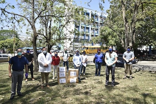 Joint Task Force-Bravo Civil Affairs donated medical personal protective equipment in Honduras.
