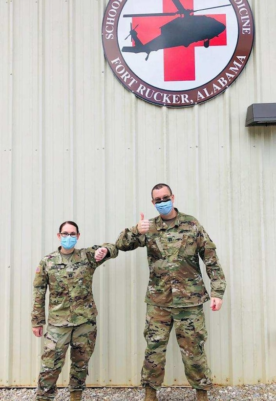 Black Hawk, black out and dunk tank: 2 Army Reserve Soldiers complete flight nurse training