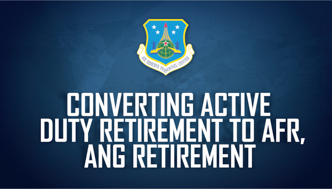 Air Force Reserve and Air National Guard members who have completed 20 years of total active federal military service (TAFMS) are eligible for immediate pay and benefits upon retirement.  However, for AFR or ANG members who further their careers in a traditional status and possibly accept a higher grade, these service members have the option to convert their active duty retirement to an AF Reserve retirement (applies to both AFR and ANG) in accordance with Title 10 USC 12731.