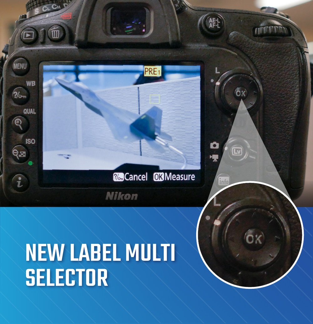 Camera with new white balance preset displaying on monitor