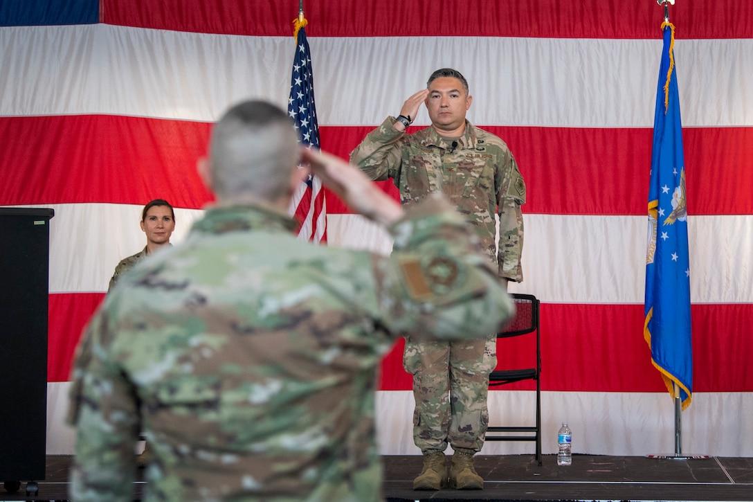 Col. Barron receives his last salute