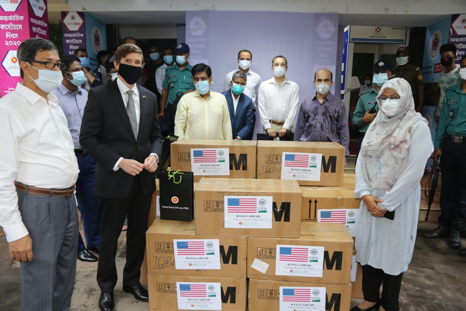 U.S. Embassy Provides COVID-19 Response Equipment to Bangladesh Customs Department