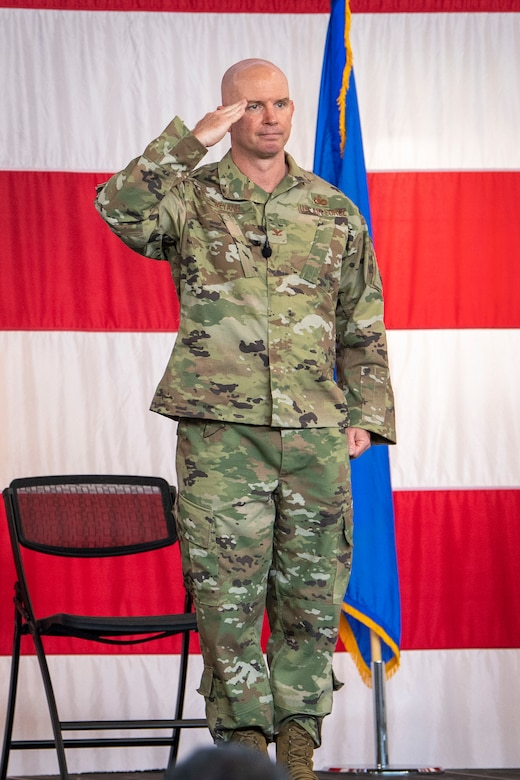 Col. Weyand receives first salute