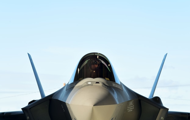 U.S. Air Force Lt. Col. Samuel Chipman, the 356th Fighter Squadron director of operations, conducts pre-flight checks at Eielson Air Force Base, Alaska, June 17, 2020.
