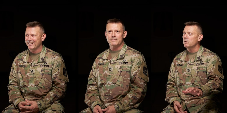 U.S. Army Reserve Sgt. 1st Class Robert Reeves, a telecommunications chief with the 335th Signal Command (Theater), poses for a portrait at East Point, Georgia, May 28, 2020.