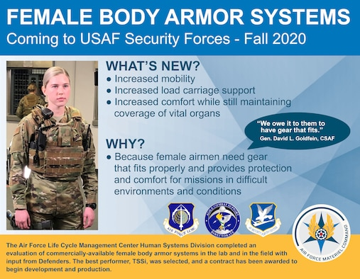 Air Force awards contract for improved Female Body Armor