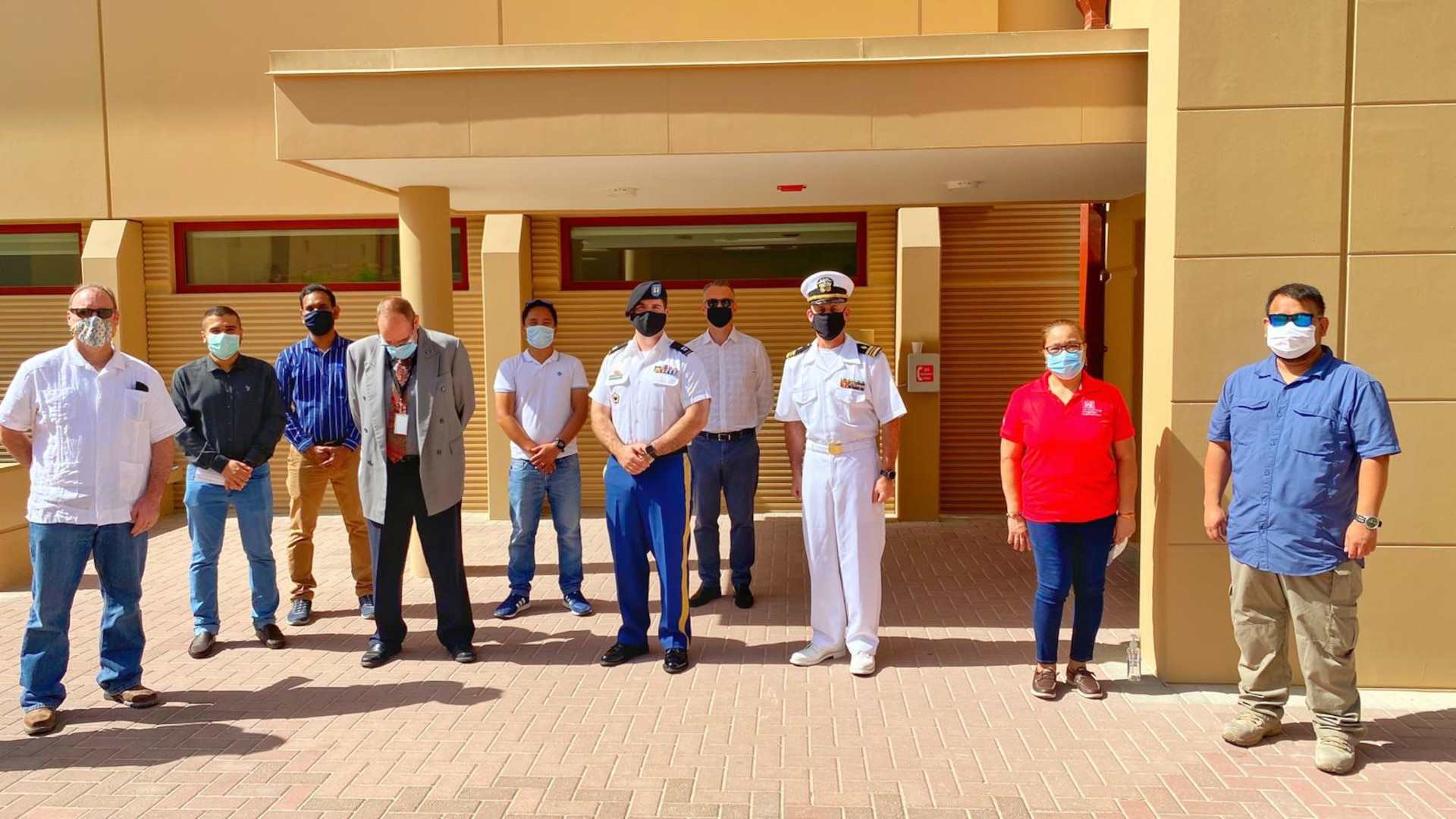 Naval Support Activity Bahrain along with personnel from the U.S. Army Corps of Engineers and the Bureau of Navy Medicine held a ribbon cutting ceremony for a new medical and dental clinic on Naval Support Activity Bahrain. The new 56,000 square foot facility, will substantially increase medical capacities and capabilities for sailors and their families stationed in Bahrain. Construction was overseen by the U.S. Army Corps of Engineers and completed in December of 2019.