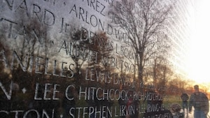 OSI Special Agent Lee C. Hitchcock's name is inscribed on the Vietnam Veterans Memorial wall, Washington, D.C. (Courtesy photo)